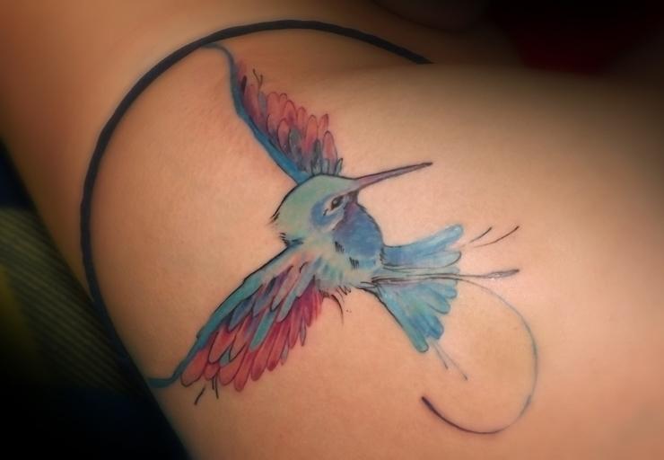 Trochilinae - kolibry, tattoo, bird - syrnique | ello