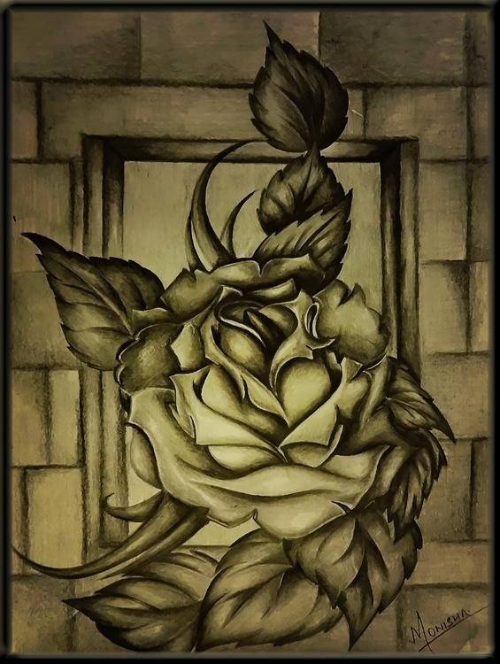 Rose - illustration, conceptart - monishas | ello