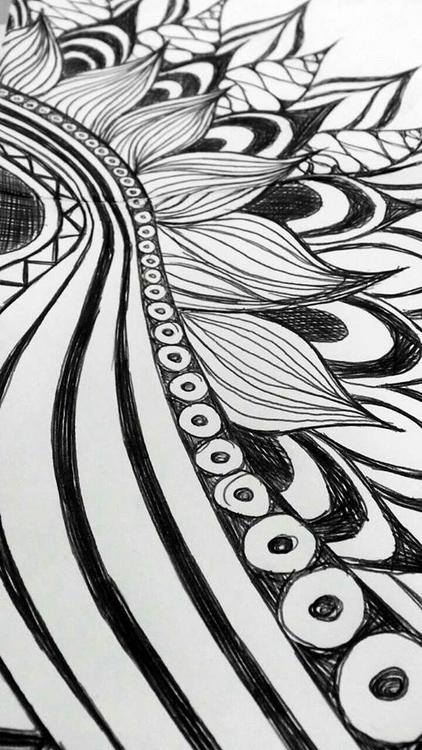 upclose, zentangle, drawing, blackandwhite - ashleyr-6440 | ello