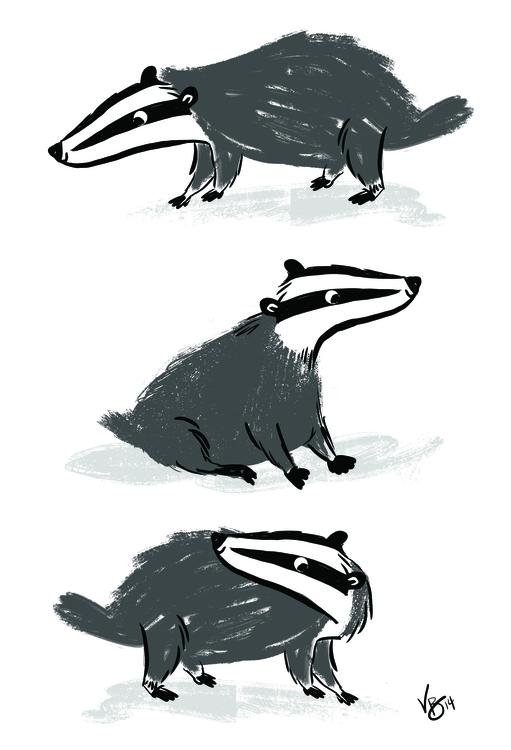 badgers, cintiq, personal - vickydoodles-4070 | ello