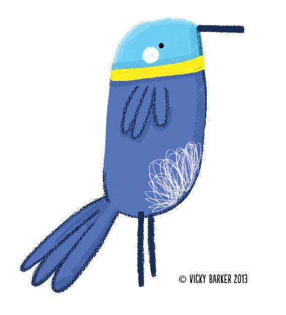 bird, blue, children'sbook, school - vickydoodles-4070 | ello