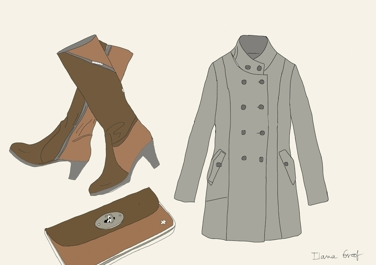 Clothes - clothing, clothes, illustration - ilanagraf | ello