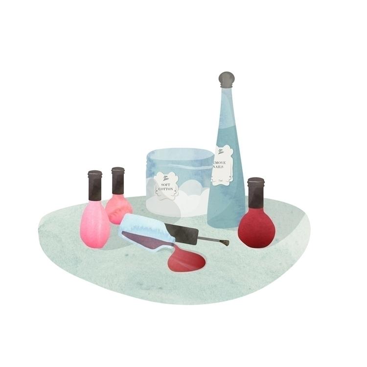 Beauty illustration - #illustration#watercolor#beauty#makeup - anarey | ello
