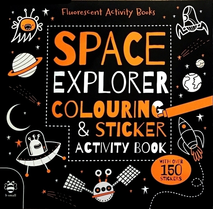 Space Explorer Colouring Sticke - vickydoodles-4070 | ello