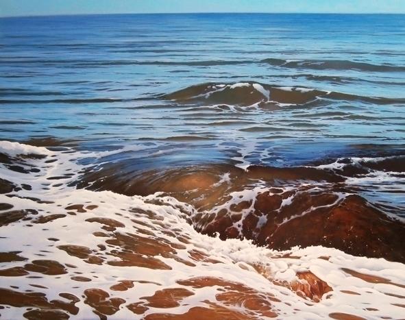 El ojo del mar. 81x100 cm. oil  - josehiguera | ello