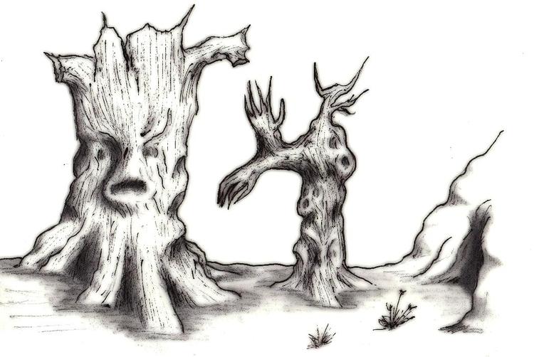Twisted trees - illustration, characterdesign - cheechwiz | ello
