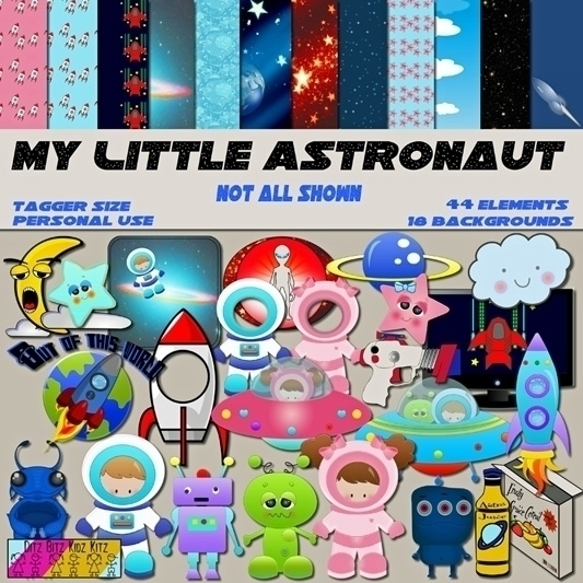Astronaut Digital Scrapbook Kit - ditzbitz | ello