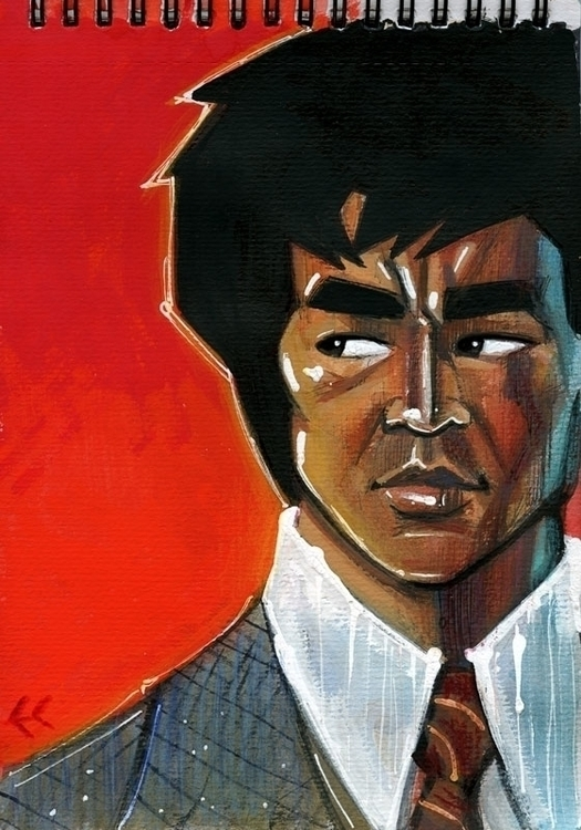 Bruce Lee - Gouache/Coloured pe - eddycrosby | ello