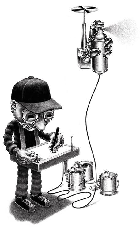 paintingmachines, illustration - mattias_lindstrom | ello