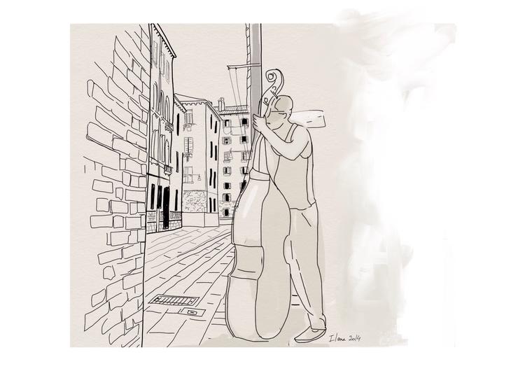 Street musicians - illustration - ilanagraf | ello