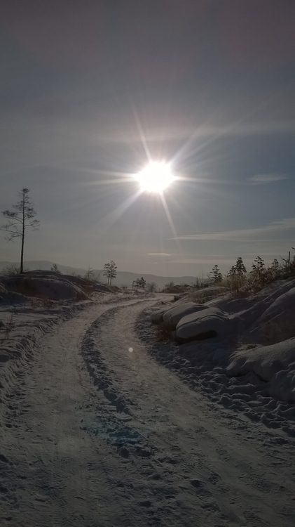 Wintertime,road,snow,sun sky - wintersnow - sancho888 | ello