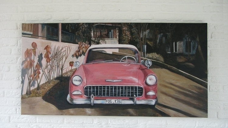 Acrylic canvas 140 70 cm - painting - marjon-4891   ello