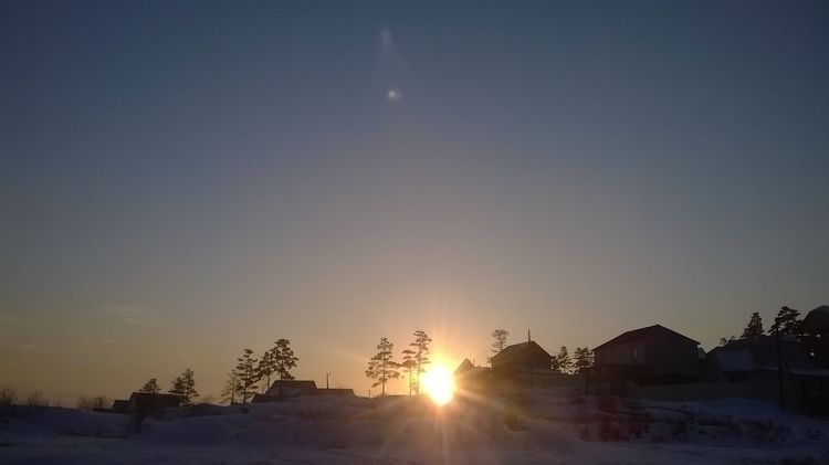 Siberian sun - photography, Siberia - sancho888 | ello