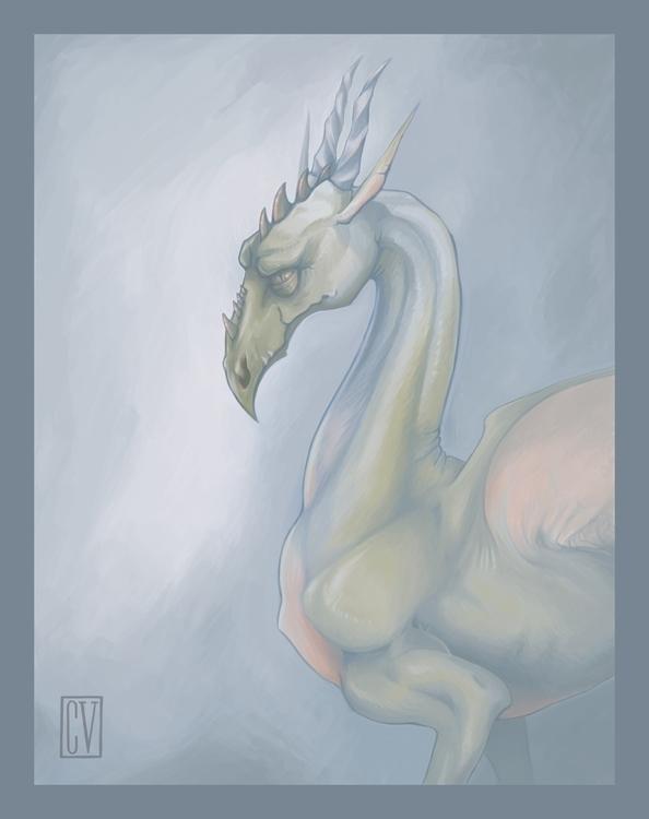 Portrait dragon - digitalart, painting - corinnavargas | ello