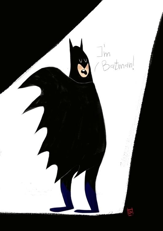 Silly Batman - illustration, characterdesign - hedif | ello