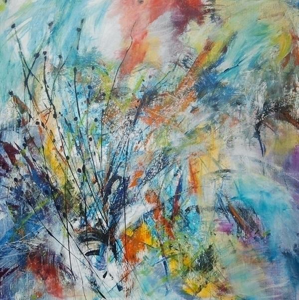 Trouble paradise 100 cm - painting - xplore-1239   ello