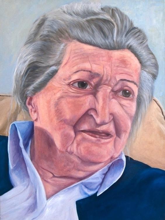 Lous Oil canvas 80 60 cm - painting - marjon-4891 | ello