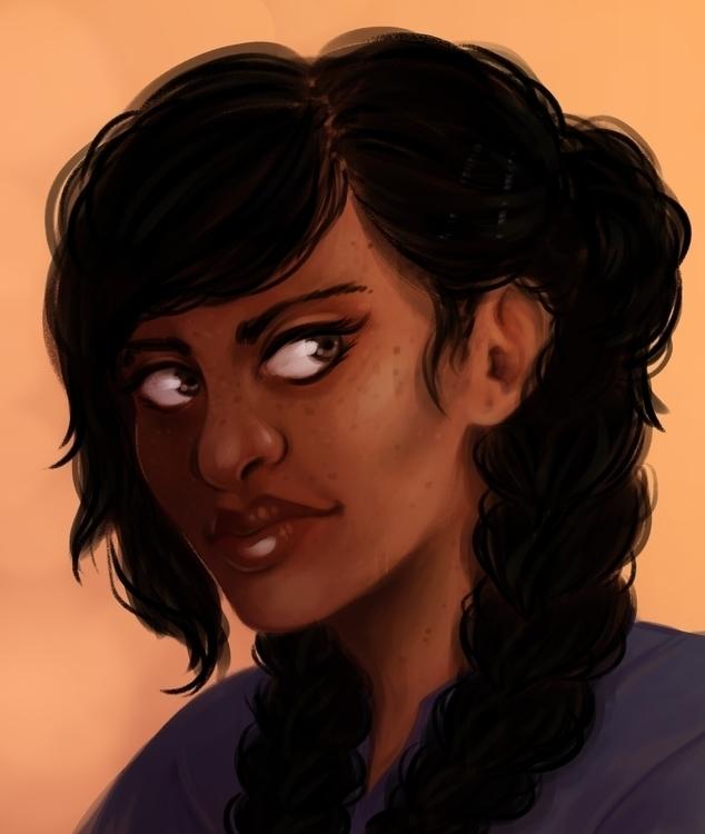 Finally drawing main character - rachelpoulson | ello