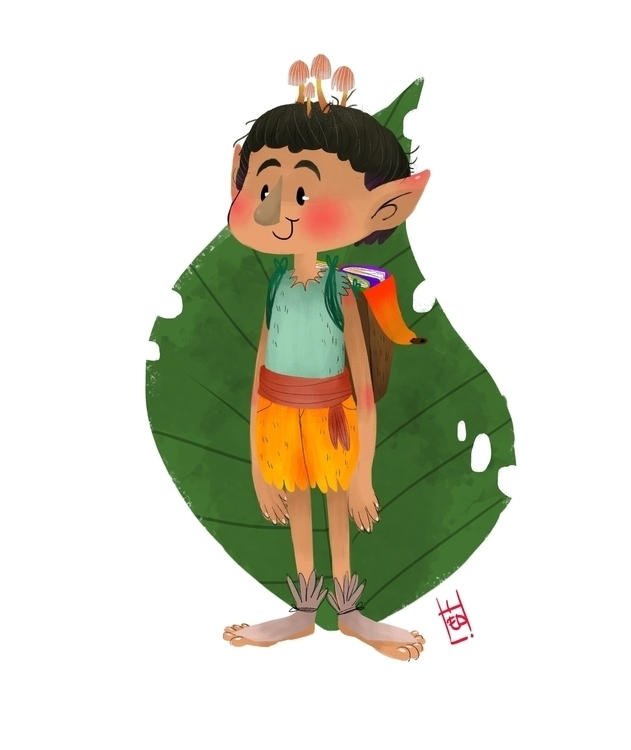 Character design-Book Elf boy - illustration - hedif | ello