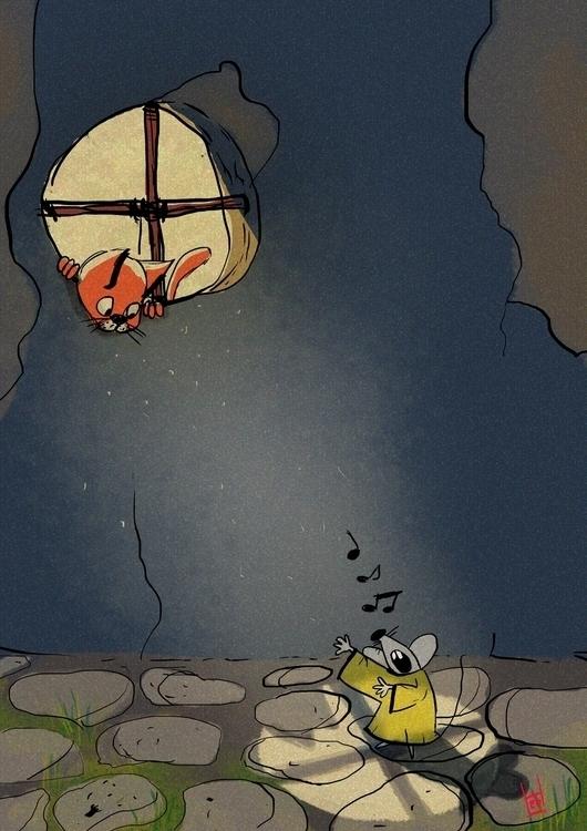 Singer moonlight - illustration - hedif | ello