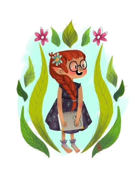 Character design-Book Elf girl - hedif   ello