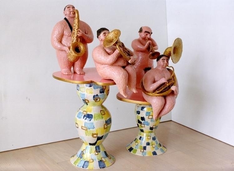 ceramics wood 150 125 60 cm - sculpture - marjon-4891 | ello