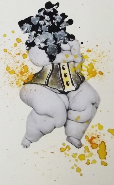 Yellow - yellow, corset, obese, mixed-medium - danikabester | ello
