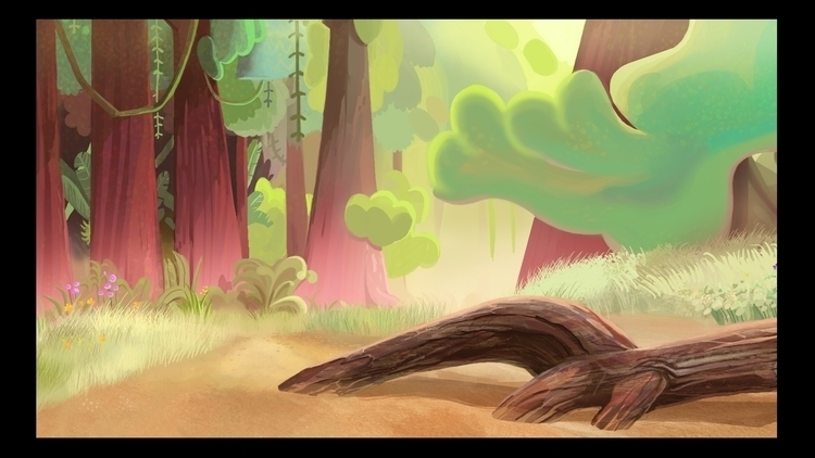 background painting animated ad - marinamunoz | ello