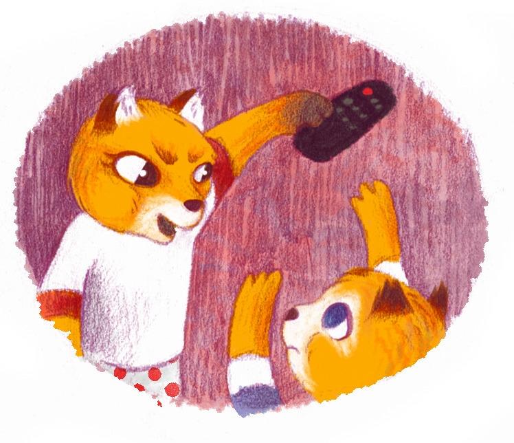 brother, big sister - fox, remote - efiolin   ello
