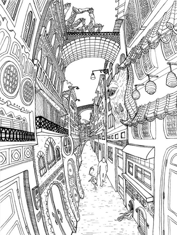 illustration, lineart - kshin | ello