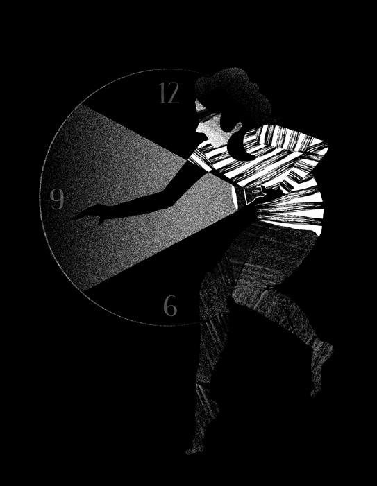Thief - clock, theif, blackandwhite - stephaniekubo-8873 | ello