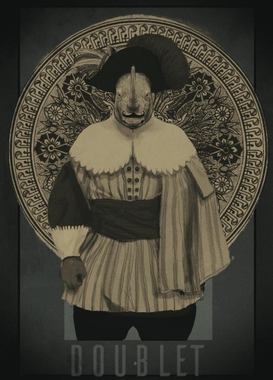 menswear. Doublet (rhinoceros - drawing - soso-6104 | ello