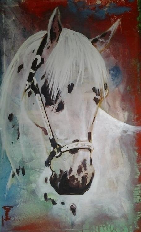 painting, horses, colors, emotions - conniemullerarte | ello