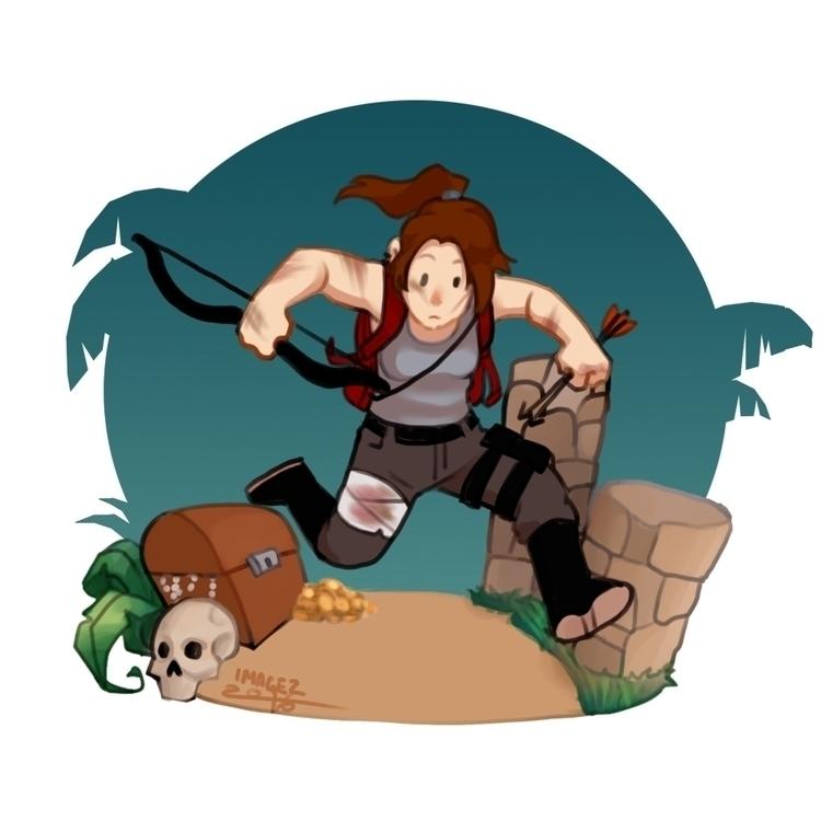 Lara Croft - fanart, laracroft, digitalillustration - imagezart | ello
