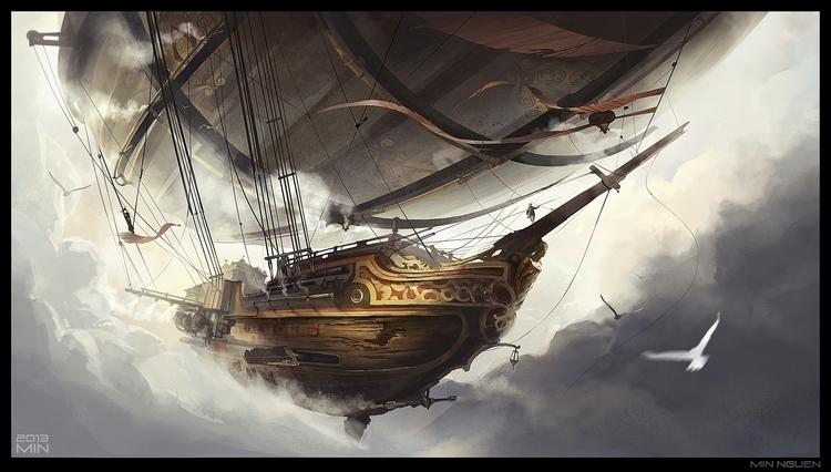 Airship - minnguen, environment - minnguen | ello