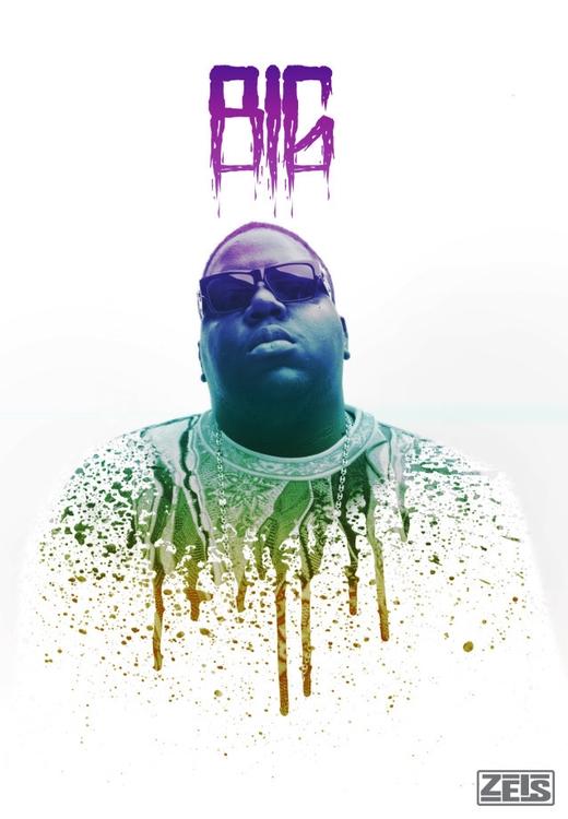 Notorious BIG poster design - photography - zeis-7669 | ello