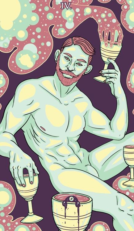 Cups - tarot, illustration - wingywonky-5811 | ello
