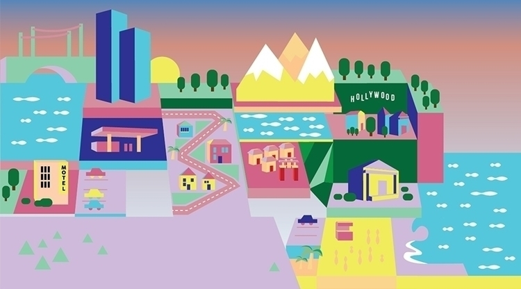 Illustration Jessica Komguen - landscape - lorryp | ello