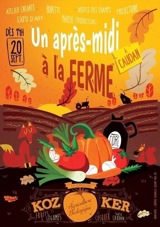 après-midi à la ferme automne - illustration - jesss-1248 | ello