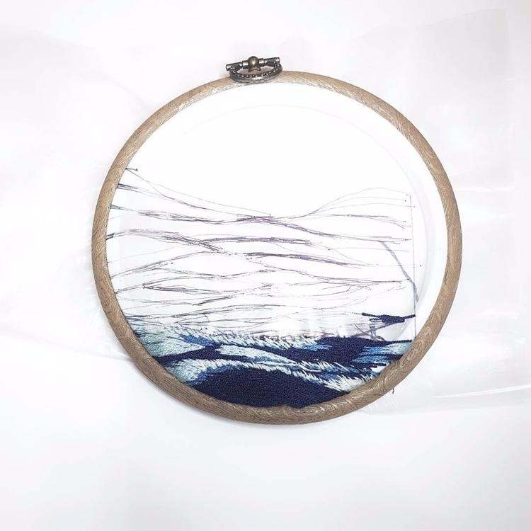 sea embroidery piece - textileart - fullmetalneedle | ello