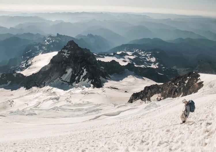 Making mighty Mt. Rainier, sun  - andrewstebliy | ello