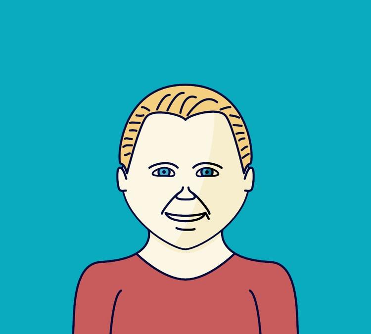 random portrait illustration - face - blazingfire | ello