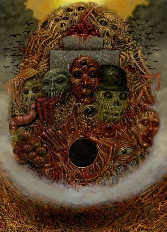 Orphic Egg 18x24 oil panel - curseddeath | ello