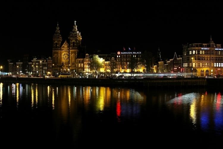 City lights - street, night, river - jpetrovic | ello