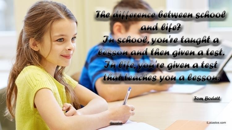 difference school life? school - ilucastos   ello
