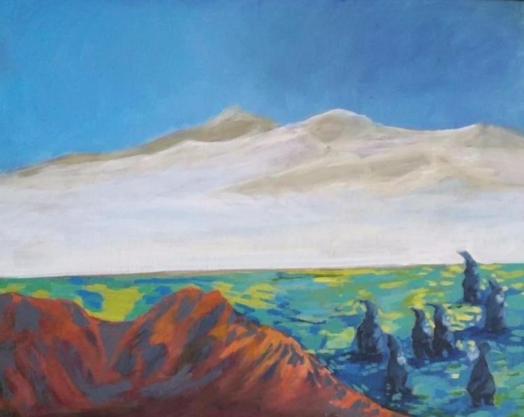 acrylic canvas panel 16x20 slee - roxymoxyart | ello