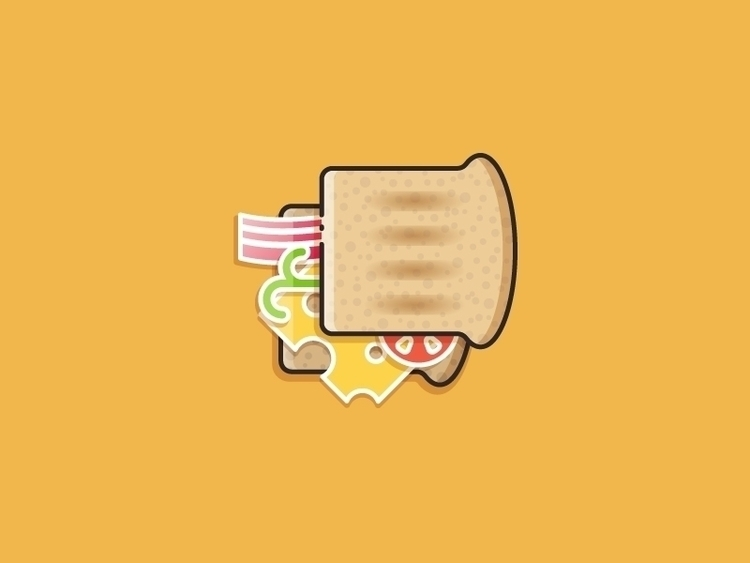 Sandwich - vector illustration - kirp | ello
