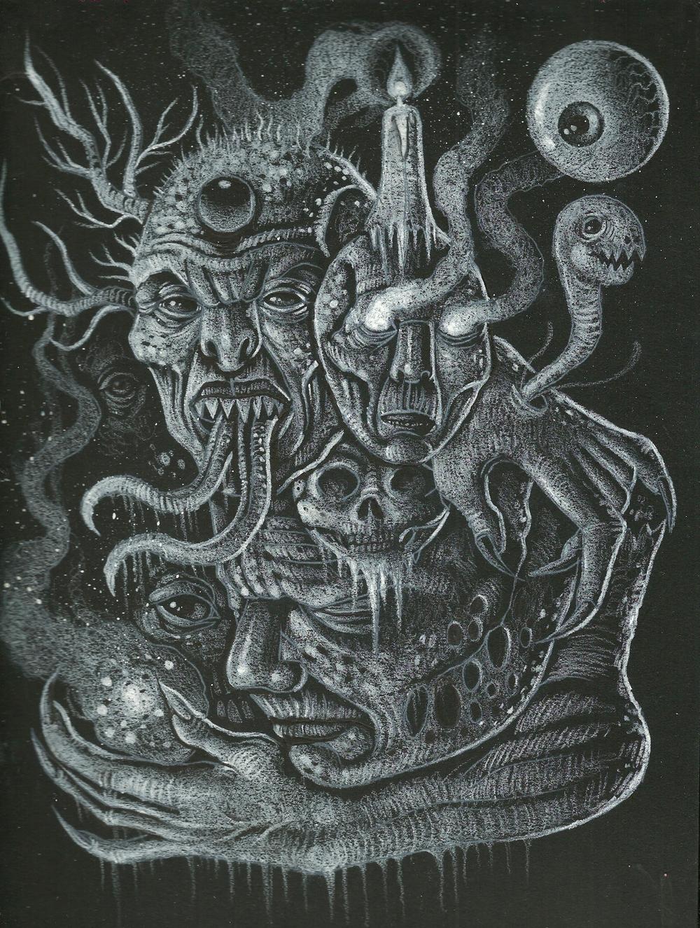 White Chaos - drawing, blackandwhite - curseddeath | ello