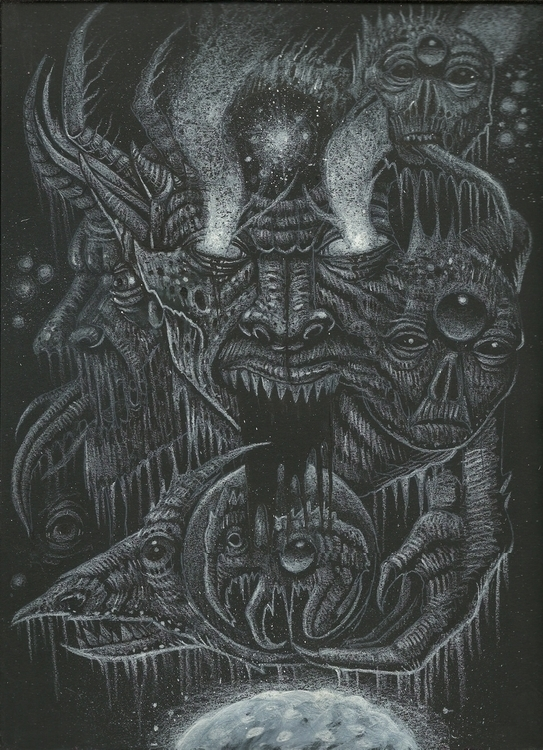 White Chaos II - drawing, surreal - curseddeath | ello