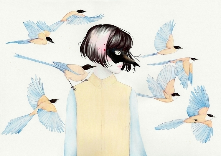 illustration, illustrator, birds - 1eligarcia | ello